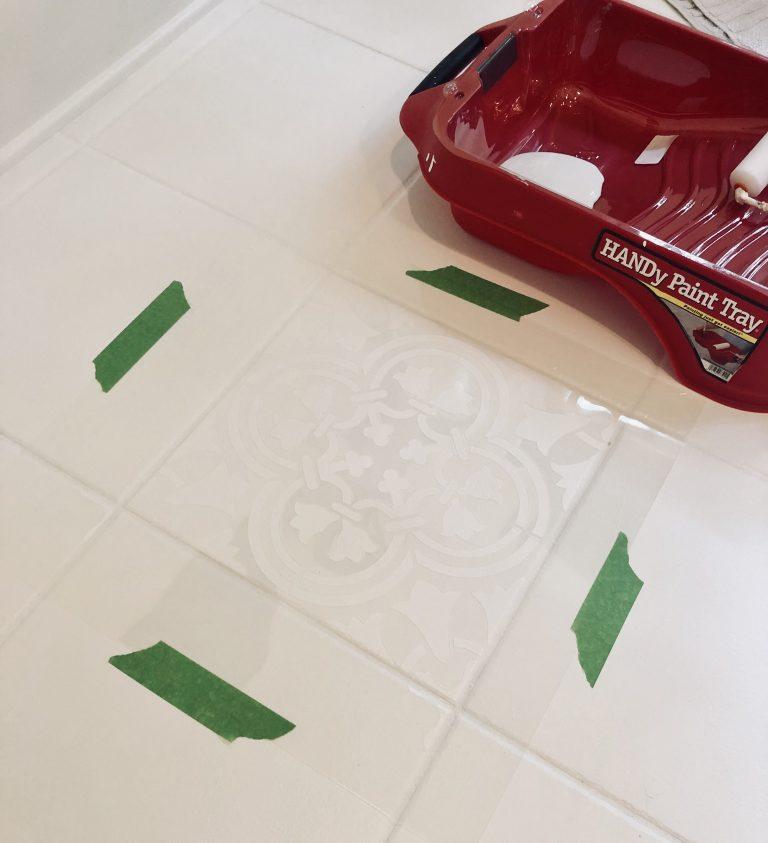 Painted Tile Floor: One Year Update