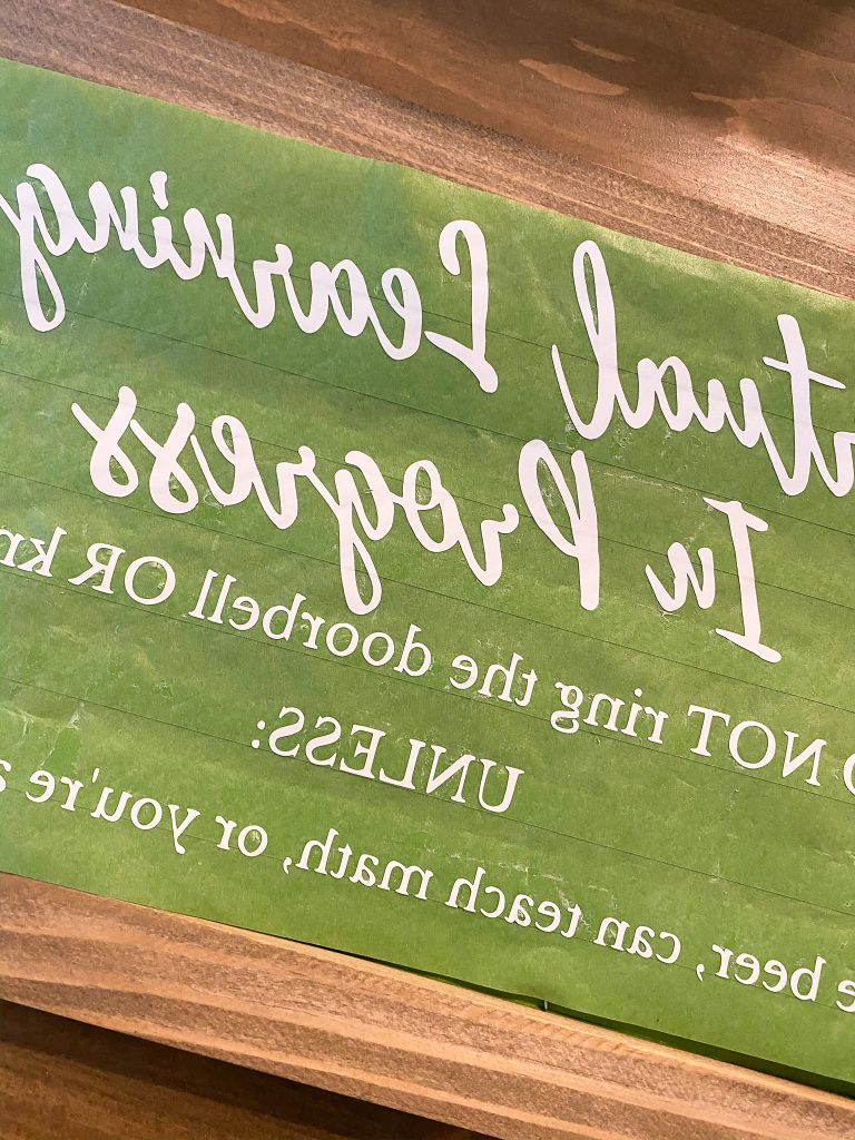Vinyl lettering, chalkboard sign, cricut sign