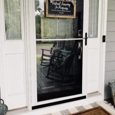 Virtual Home School Door Hanging