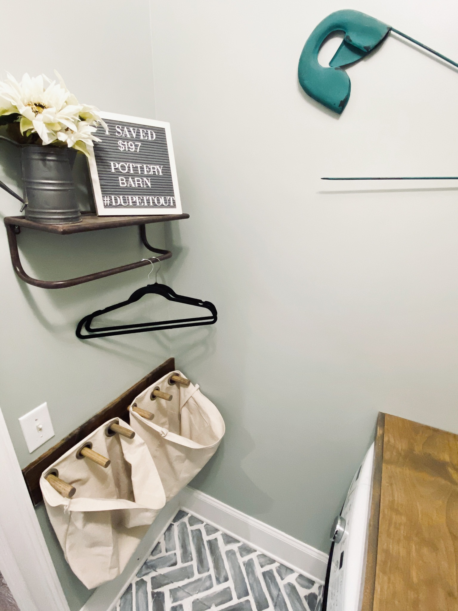 Diy Hanging Laundry Hamper Inspired By Pottery Barn