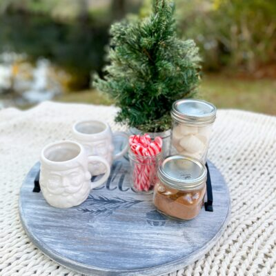 Homemade Holiday Gifts: Lazy Susan Tray with The Home Depot