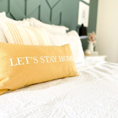 3 Easy ways to freshen up your master bedroom for Spring.