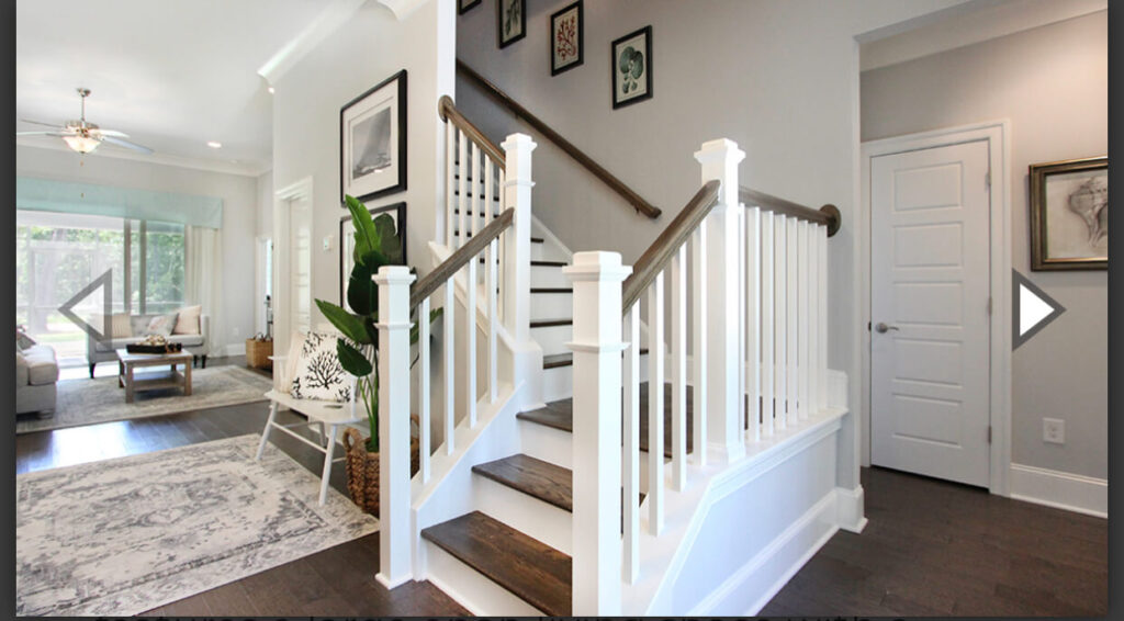 model home stairway and foyer