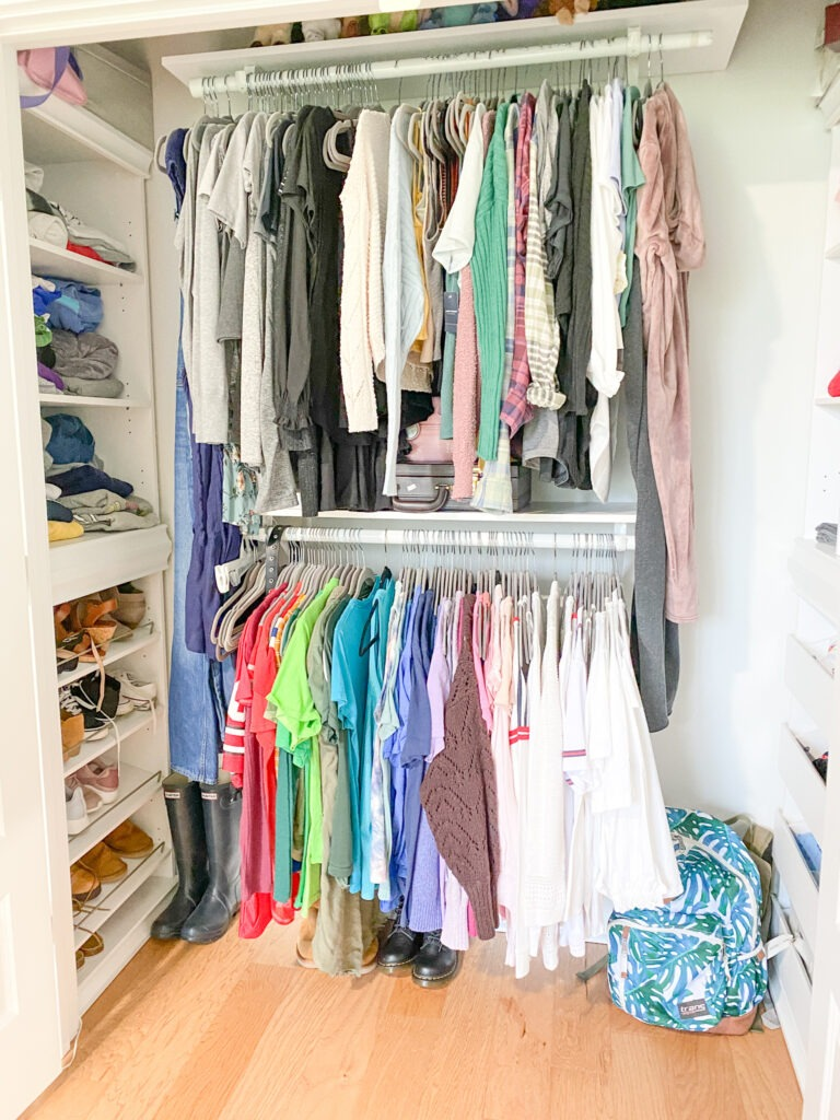 Same closet with a view to the left very similar to the one mentioned above