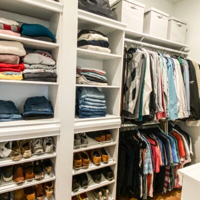 Easy and inexpensive built in closet organization system